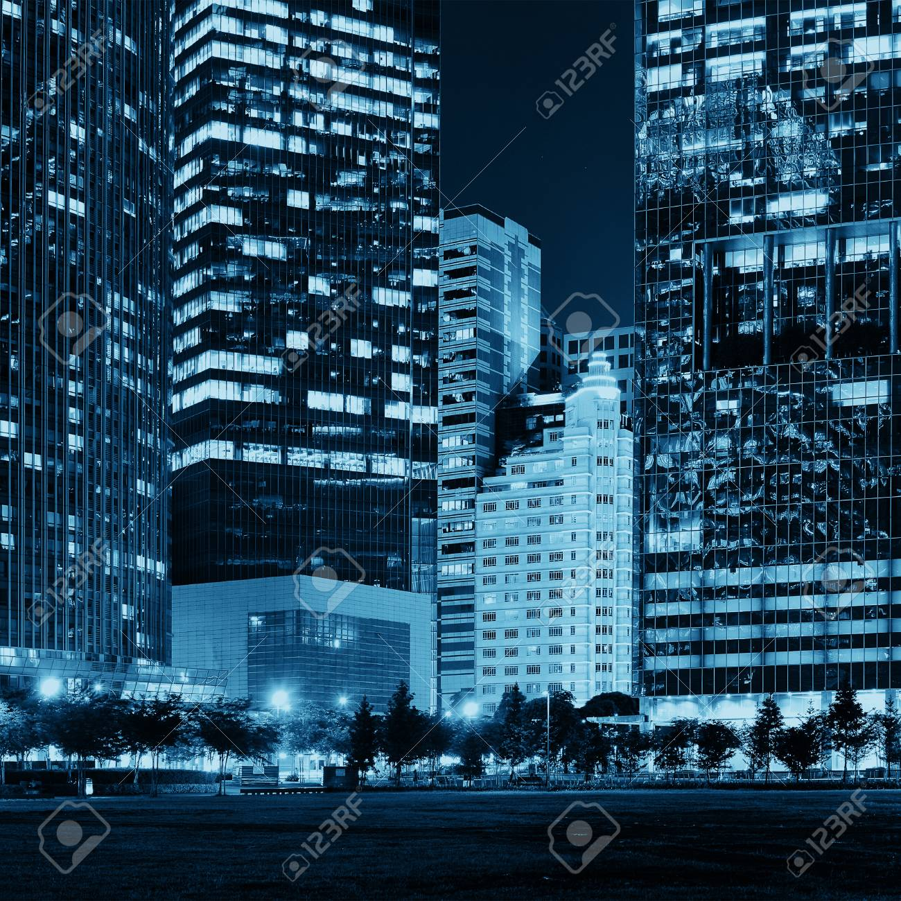 Urban Architecture Skyscrapers Background In Singapore Stock Photo 1300x1300