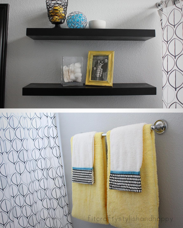 Grey Wallpaper Bathroom Ideas, Teal And Yellow Bathroom Accessories