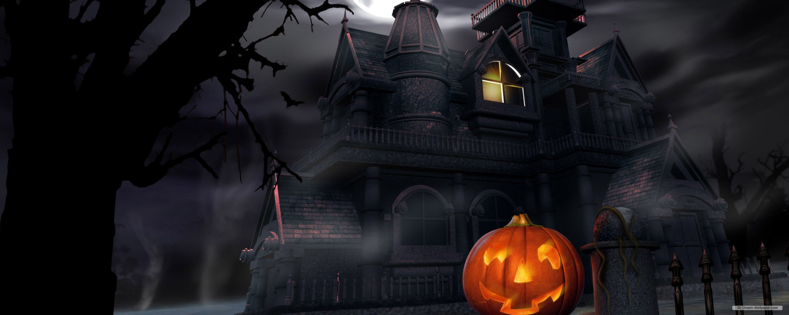 Holiday wallpaper   Halloween Episode 7 wallpaper   dual screen 2560x1024