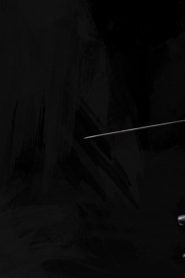 samurai simple background 1600x900 wallpaper Art HD Wallpaper download 640x960