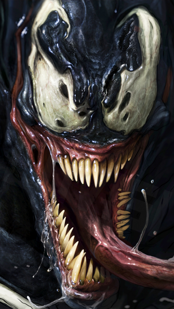 Venom looking crazy iPhone 5 Wallpaper 577x1024 577x1024