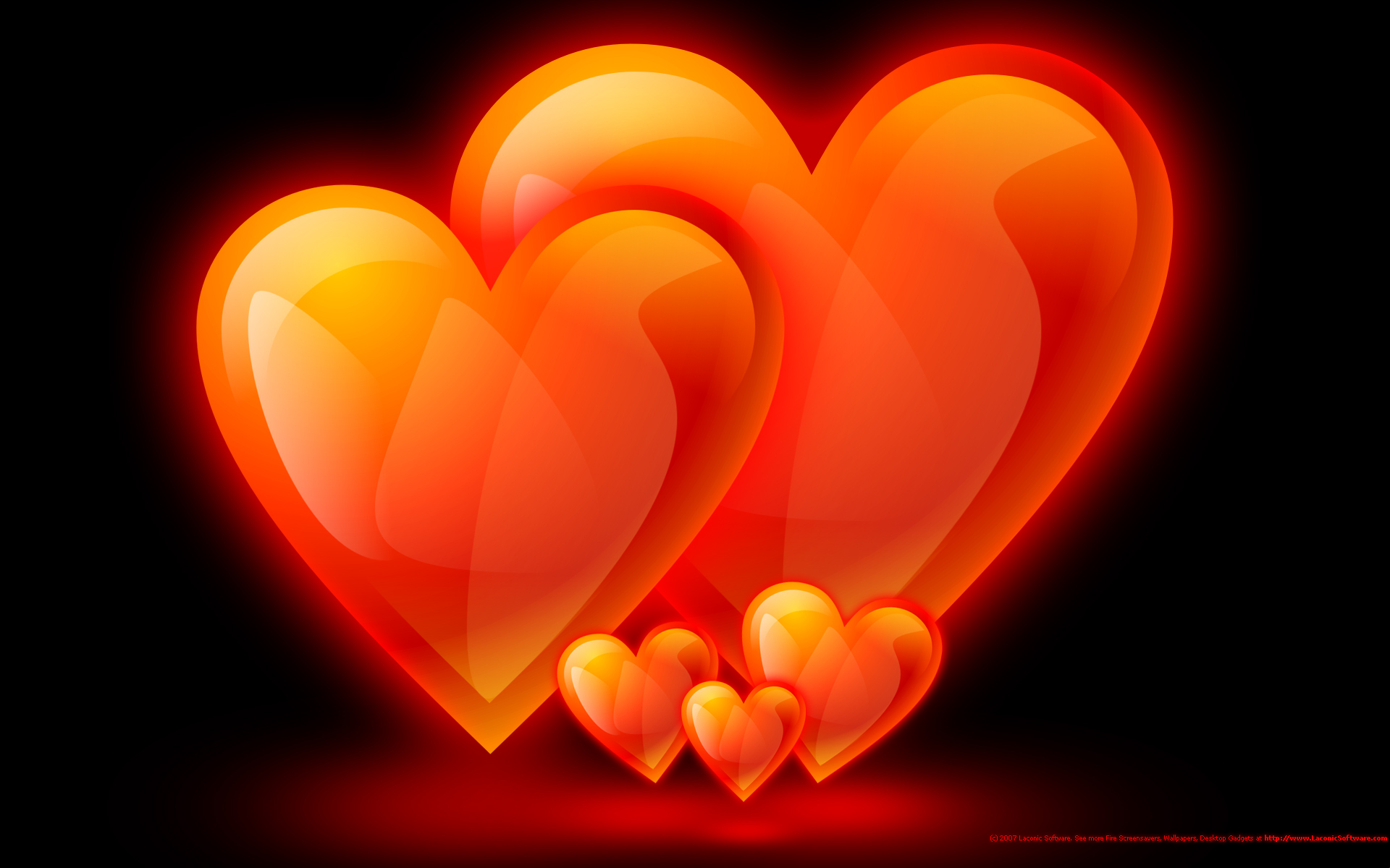 Fire Flame Hearts Family Screensavers Background wallpapers HD 1920x1200