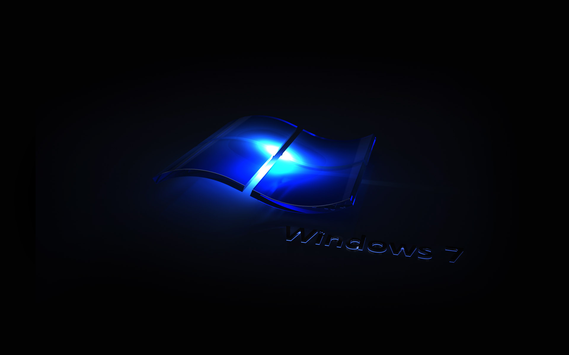 Windows 7 Blue Neon Wallpaper Background Wallpapers HD 1920x1200