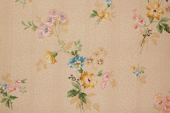 1920s Antique Vintage Wallpaper Pretty by RosiesWallpaper on Etsy 570x380