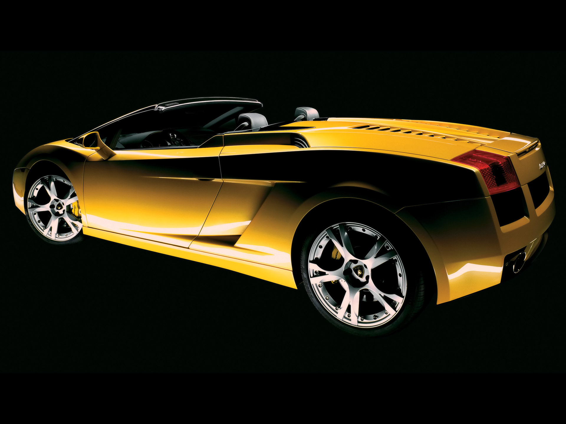 2006 Lamborghini Gallardo Spyder   Yellow   Rear Angle   Top Down 1920x1440