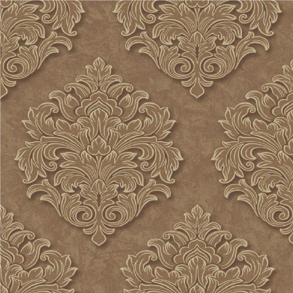 Free Download Large Damask Textured Embossed Blown Vinyl Wallpaper