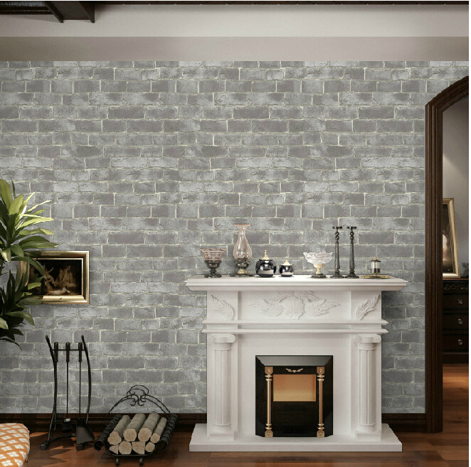 Vintage 3d wallpaper roll background wall wallpaper brick Tan Vinyl 662x657