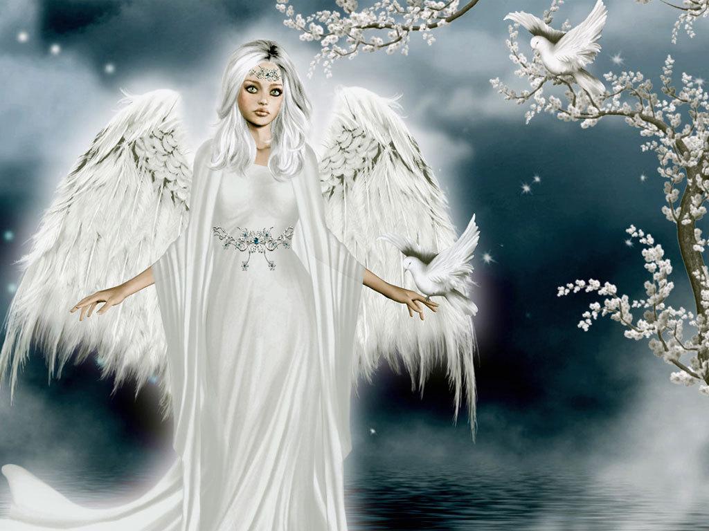 1024x768px Beautiful Christmas Angels Desktop Wallpaper ...