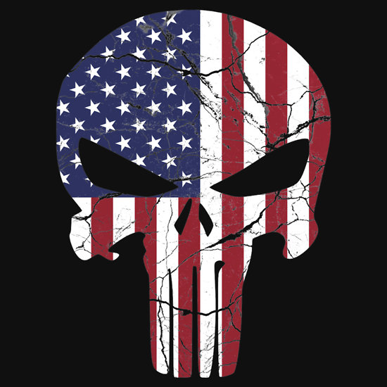 American Punisher T Shirts Hoodies by zingarostudios Redbubble 550x550