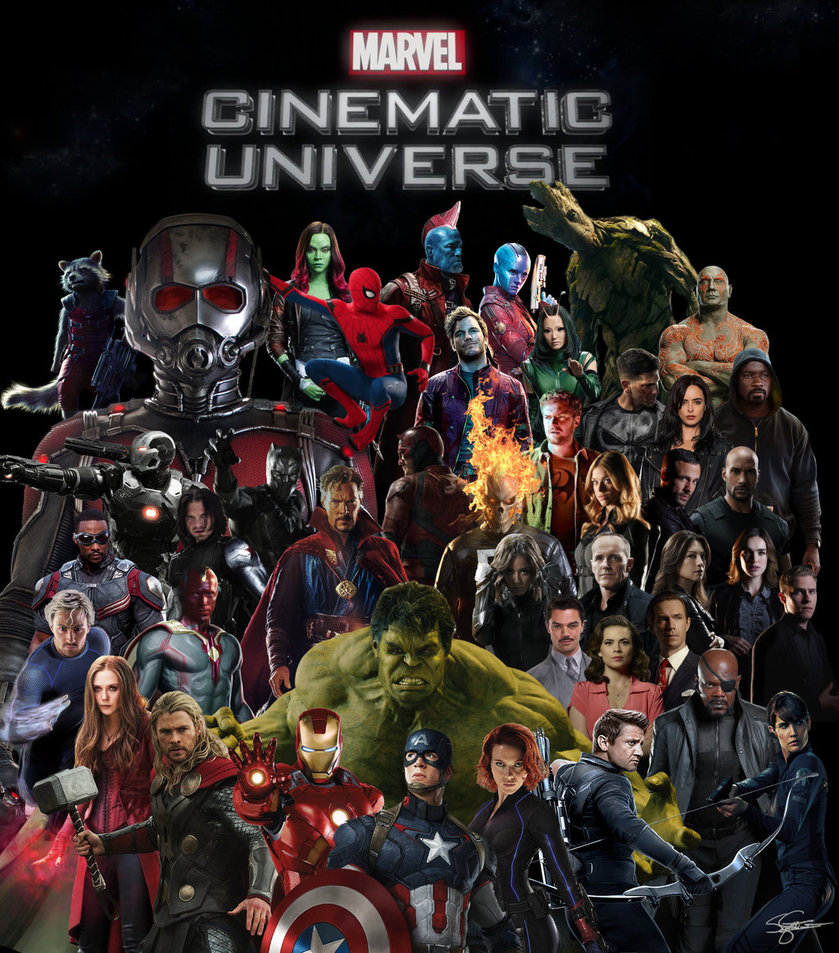 Marvel Cinematic Universe Character Poster by 839x953