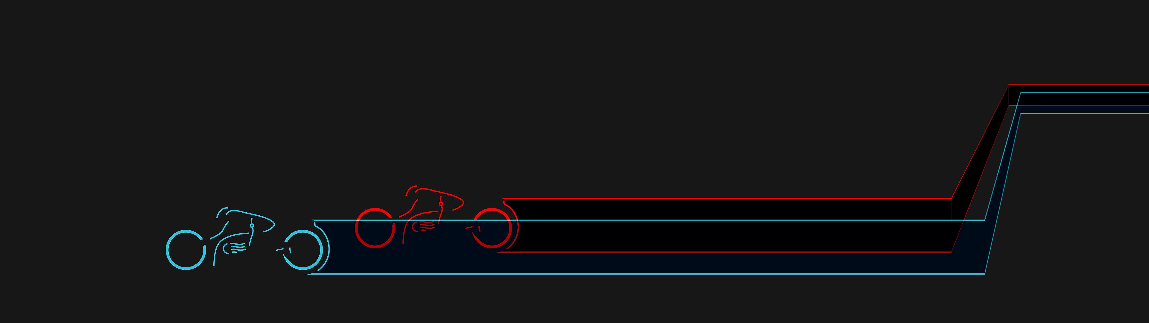 Tron cycles redux   dual screen [3840x1080] iimgurcom 3840x1080