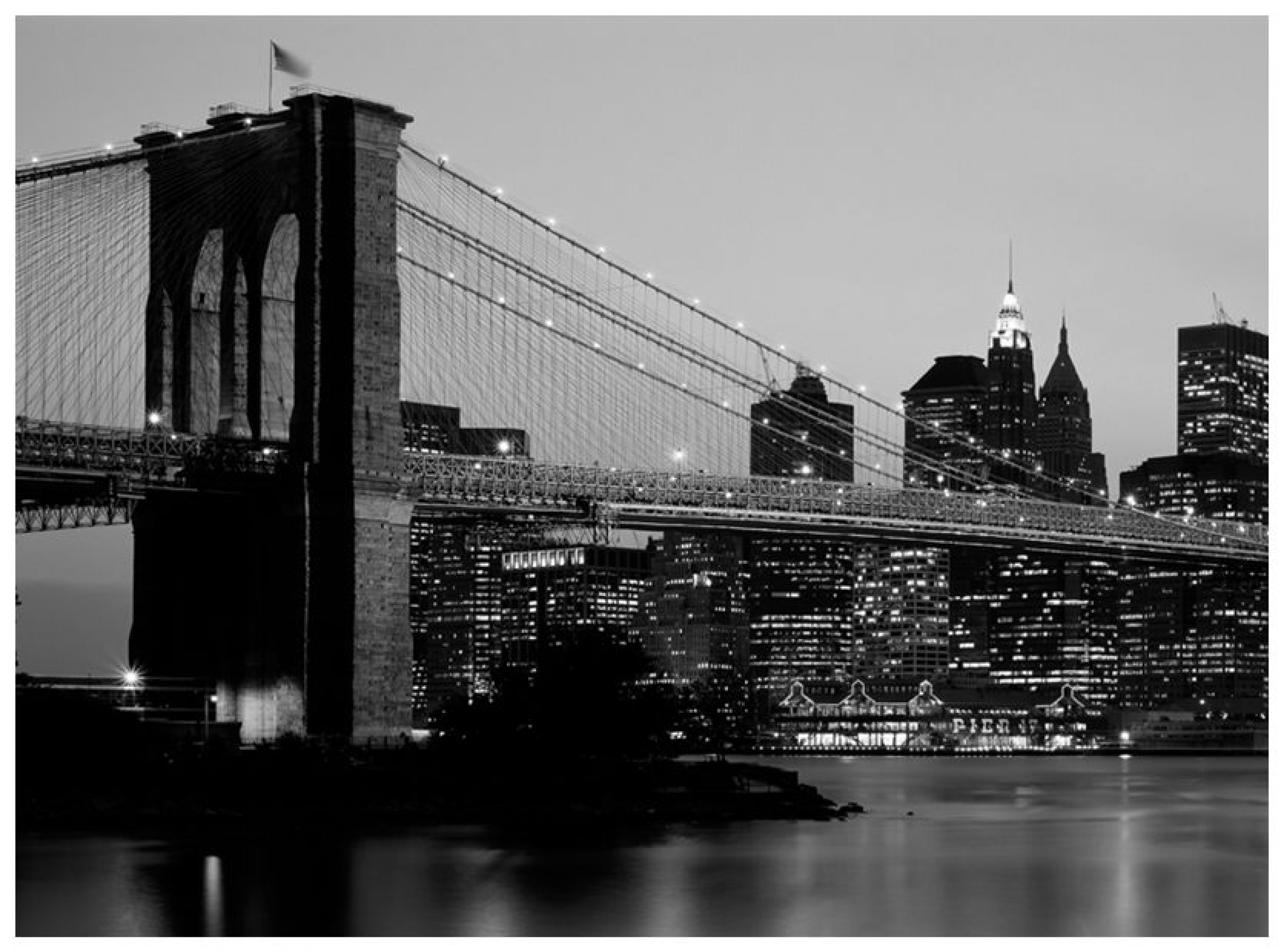 New York City Pictures Black and White Skyline Wallpaper HD 7737 2717x2014