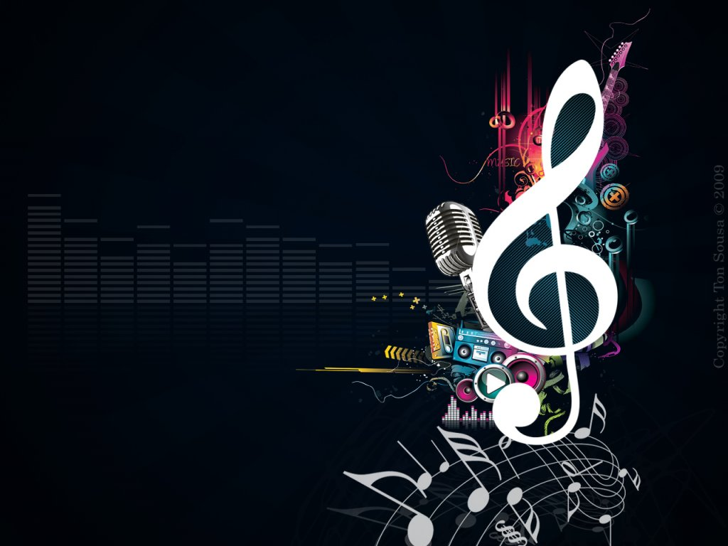 Info Wallpapers music notes wallpaper 1024x768