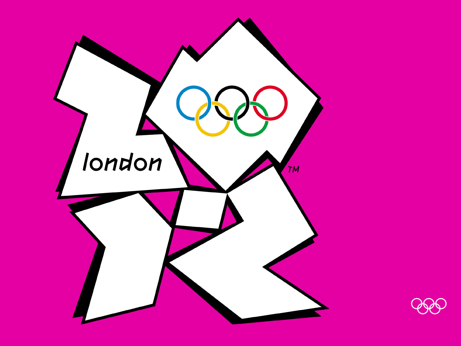 London 2012 Olympic Logo With Pink Background 1600x1200 DESKTOP London 1600x1200