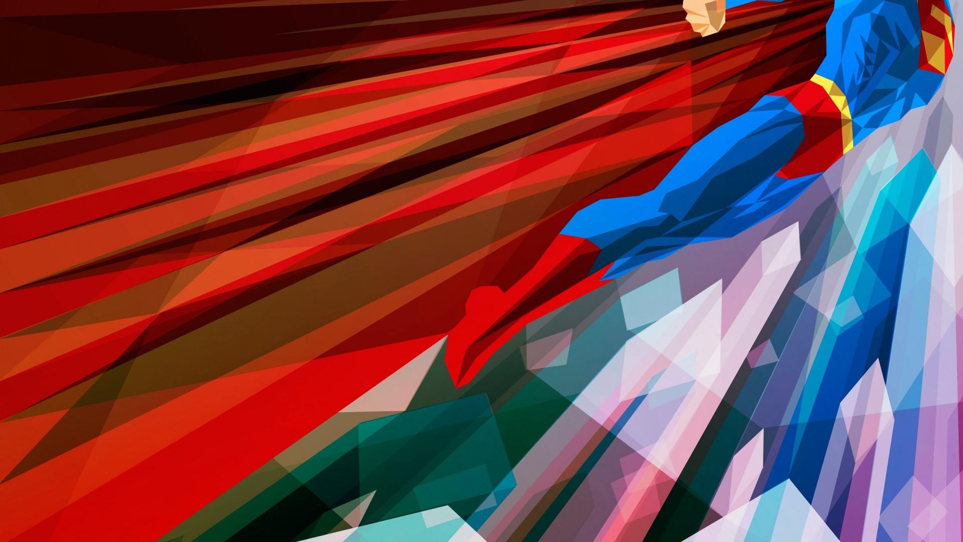 Superman Abstract 3D Wallpaper 1080P Super Man 1920x1080