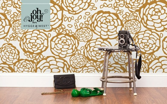 OH JOY gold floral removable wallpaper For the Home Pinterest 554x347