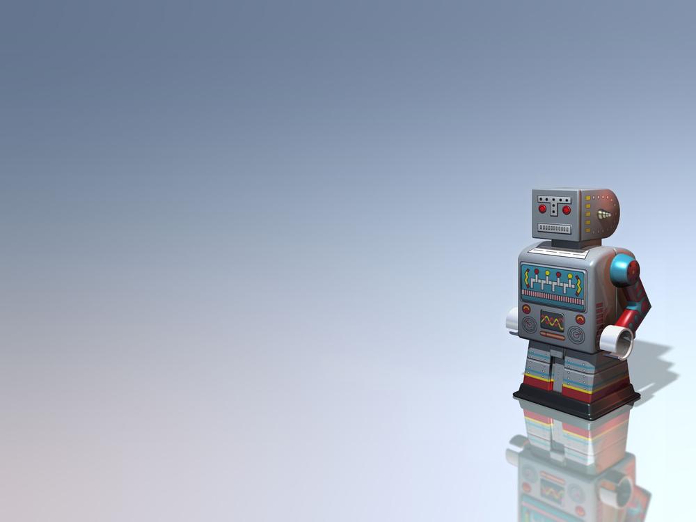 Retro Robot Desktop Wallpaper Wallpapers tin robot 1000x750