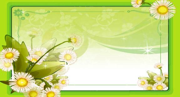 Vector floral frame illustration Really nice 575x310