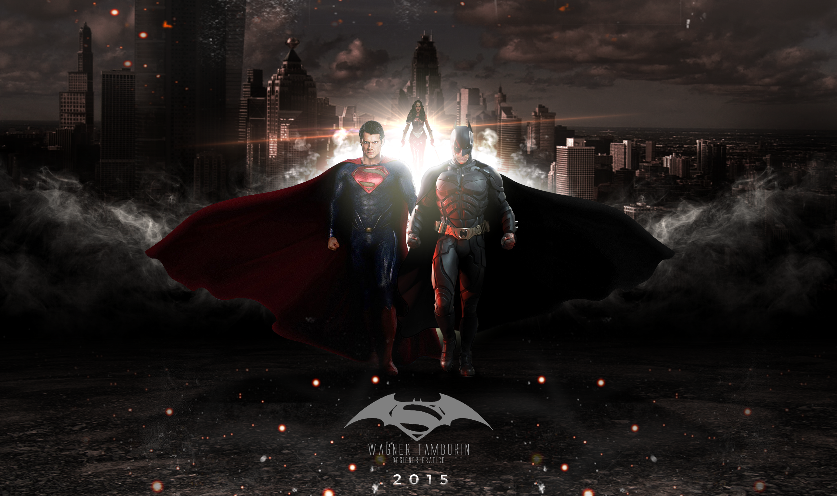 batman vs superman wallpaper by wagnertamborin fan art wallpaper 2700x1600
