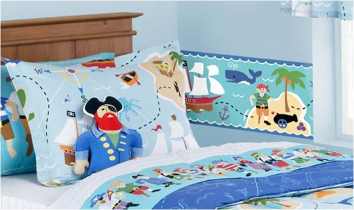Pirates Wallpaper Border   9 Extra Wide Wall Border 706x420