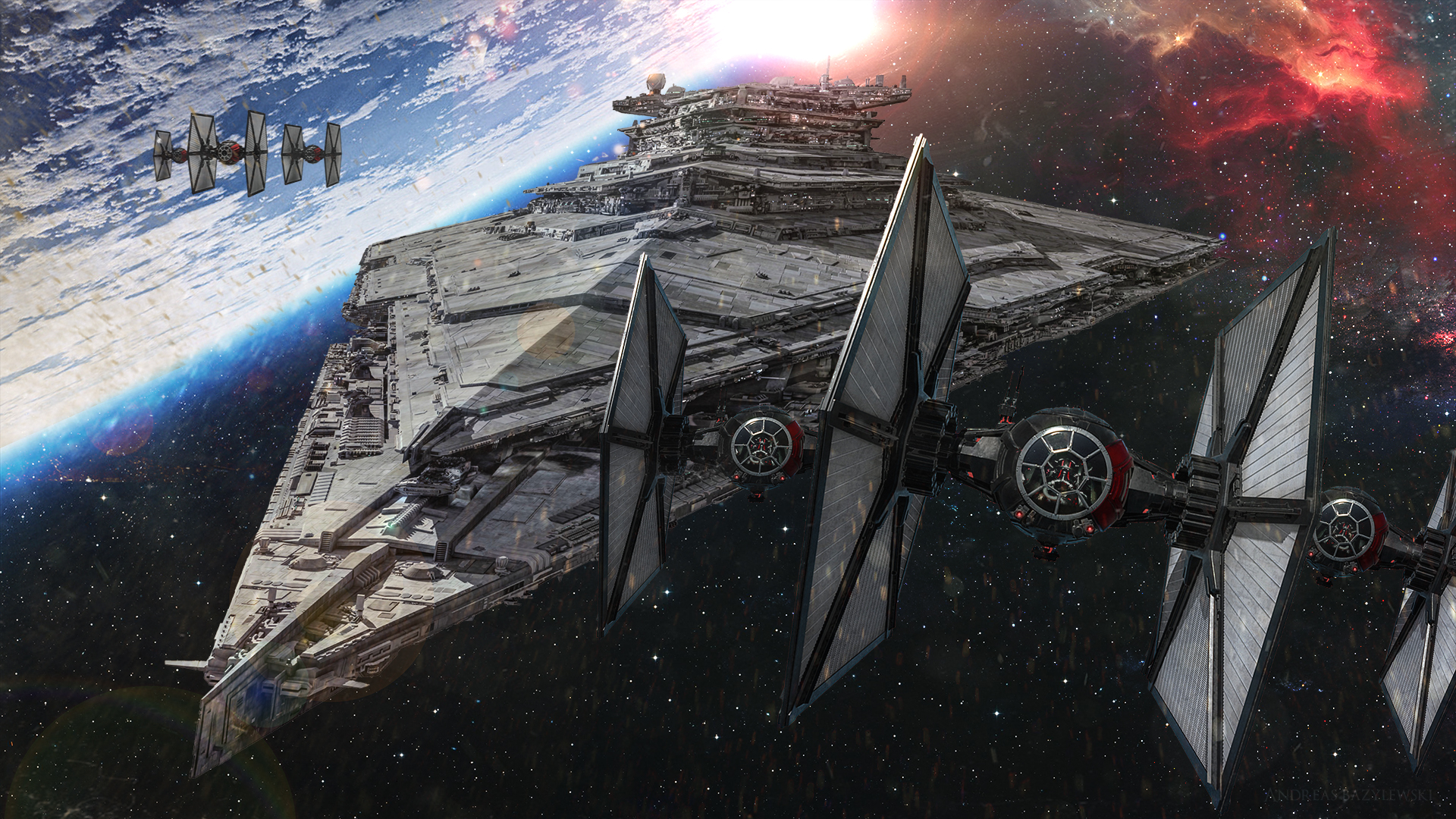 Films Star Wars 7 Le Rveil De La Force Star Wars Espace Star 1920x1080
