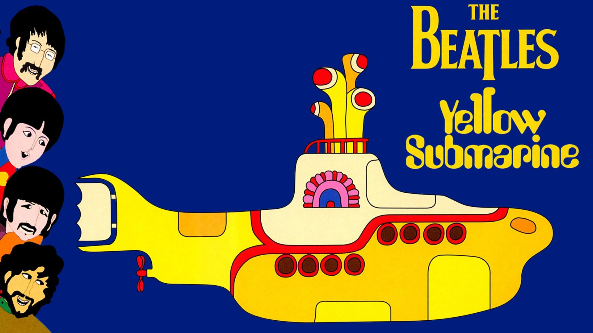 The Beatles In Yellow Submarine HD Wallpaper Background Image 1920x1080