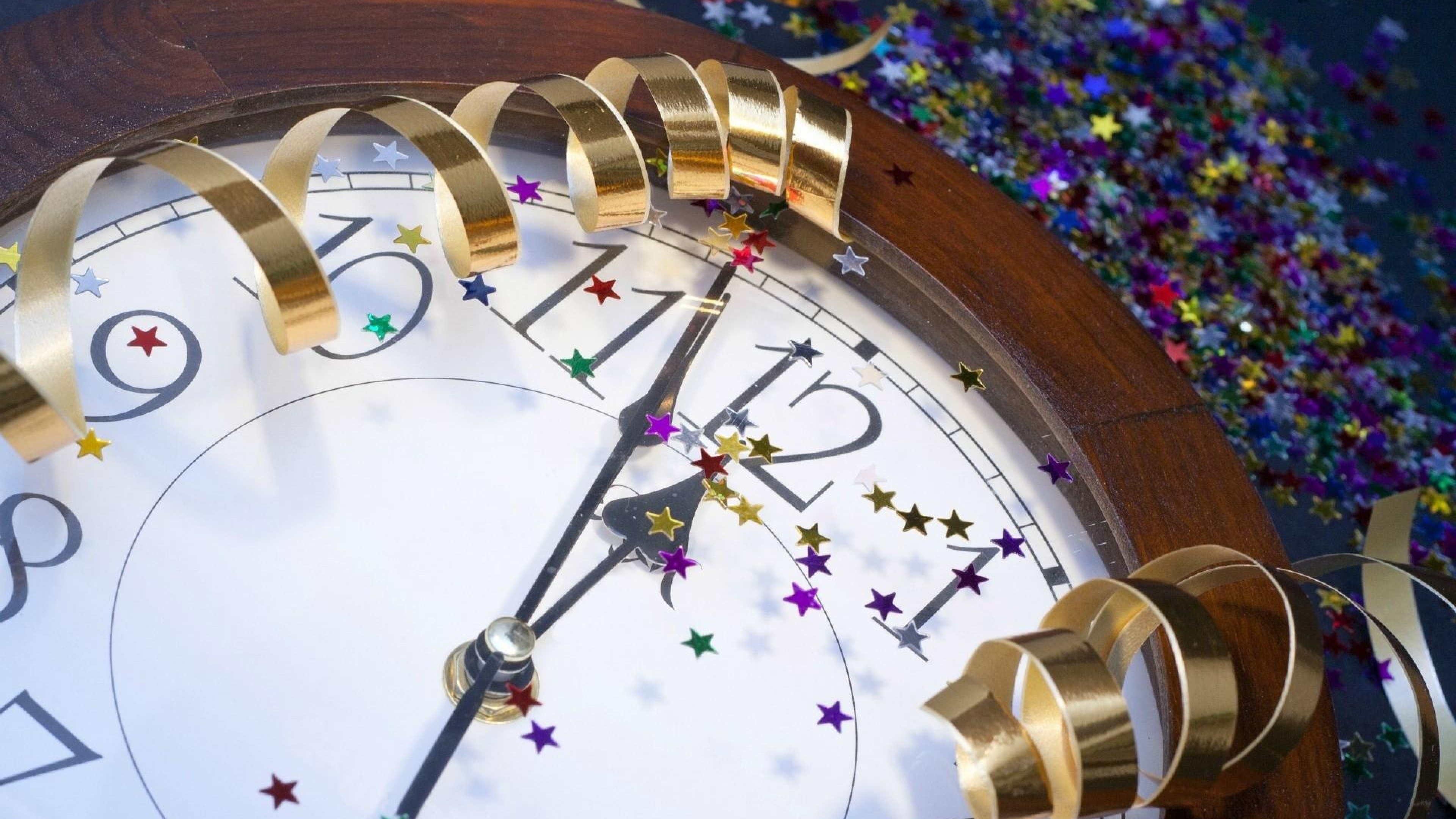 New year clock wallpaper   HD Wallpapers 3840x2160