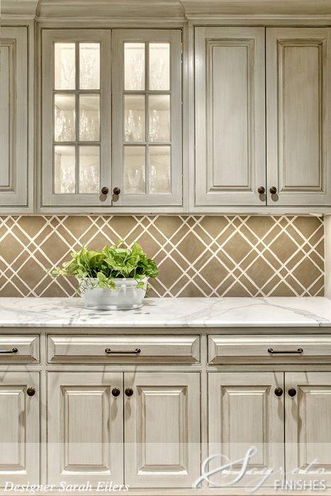 Tile wallpaper backsplash wallpapersafari for Textured wallpaper for kitchen backsplash