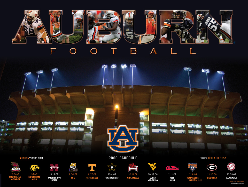 Auburn Tigers Football Schedule Dark Brown Hairs 1024x771