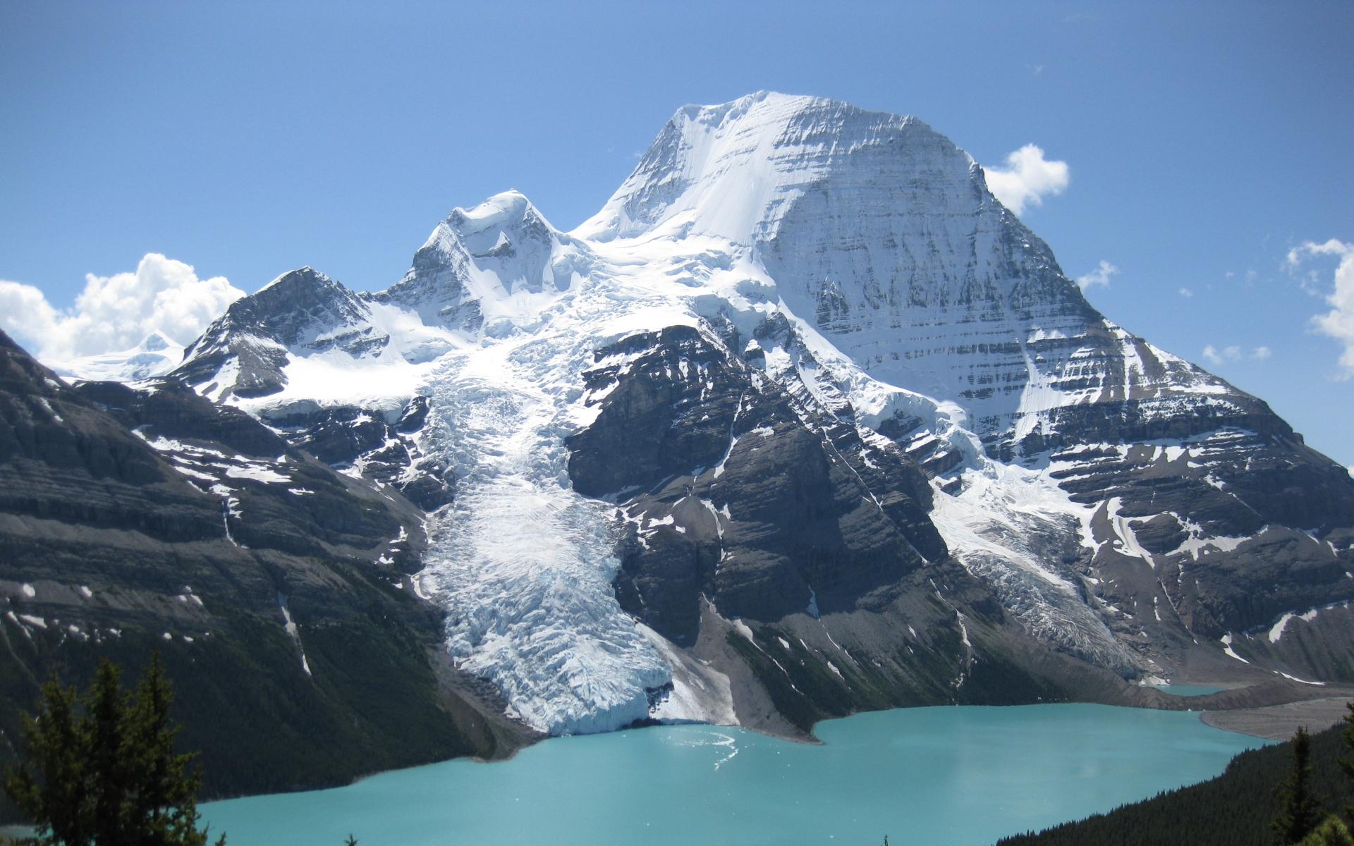 Canada Snow Mountain Sea HD Desktop wallpaper images and photos 1920x1200