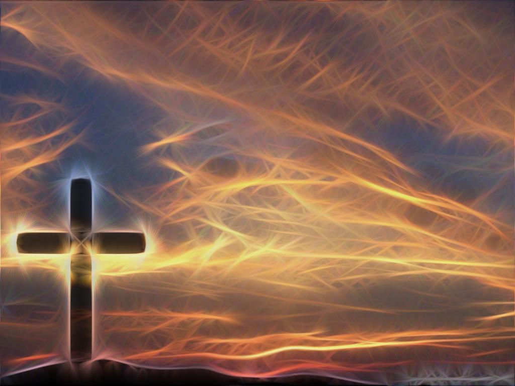 Cross amp Sky Christian Wallpaper Background a GIMP edit of 1024x768