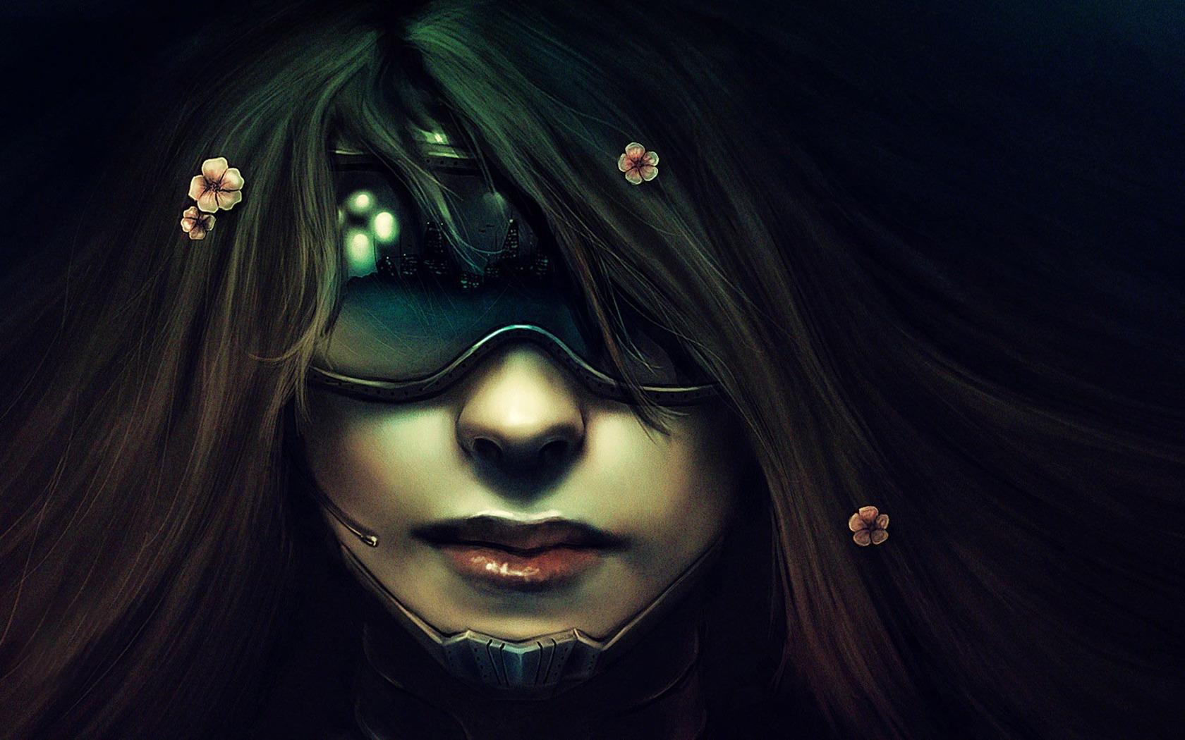Pics Photos   Cyberpunk Girl Wallpaper 1680x1050 Hq 1680x1050