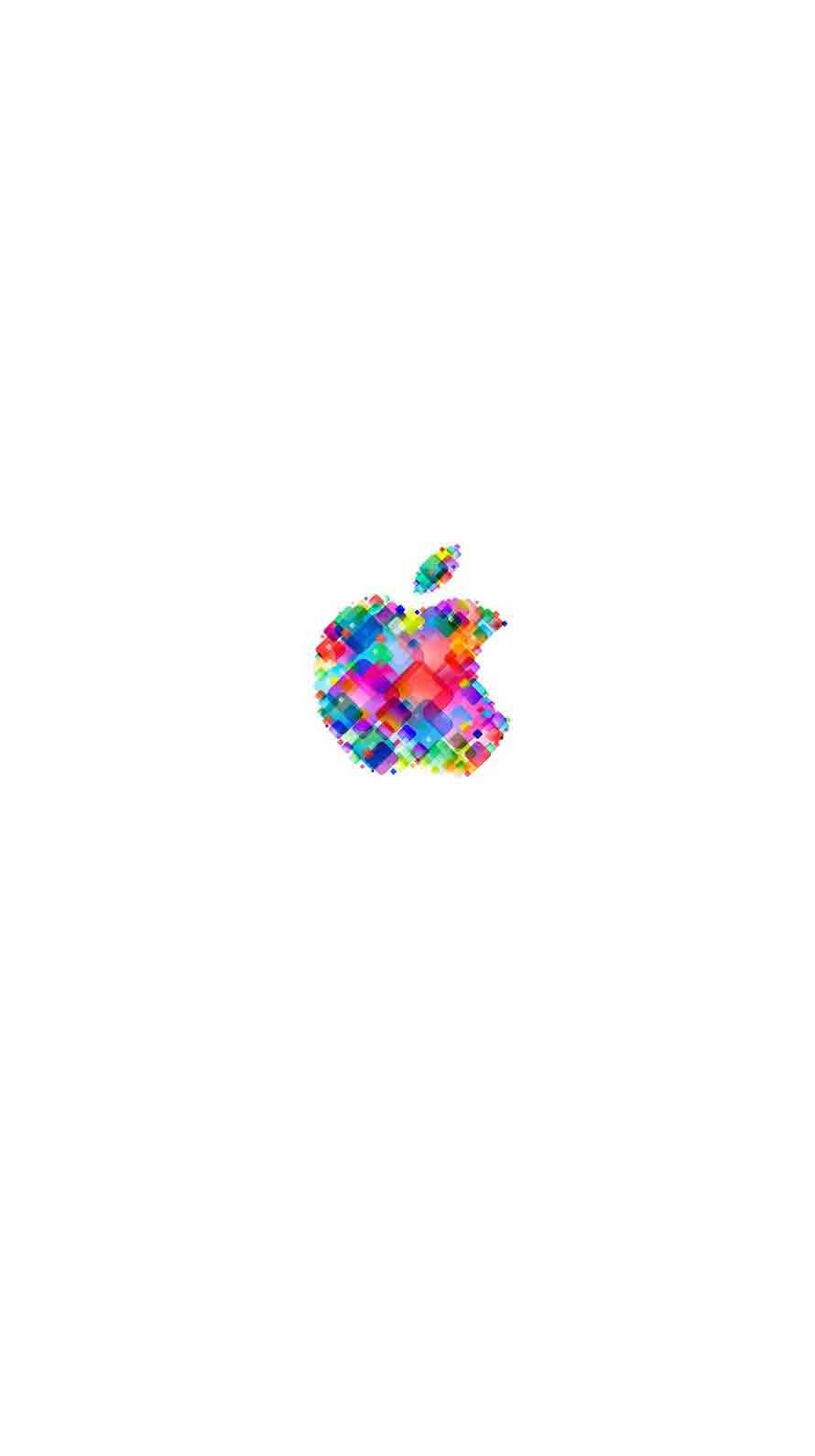 Wallpaper iphone white tumblr - Apple Logo Pop Colorful White Wallpaper Sc Iphone6