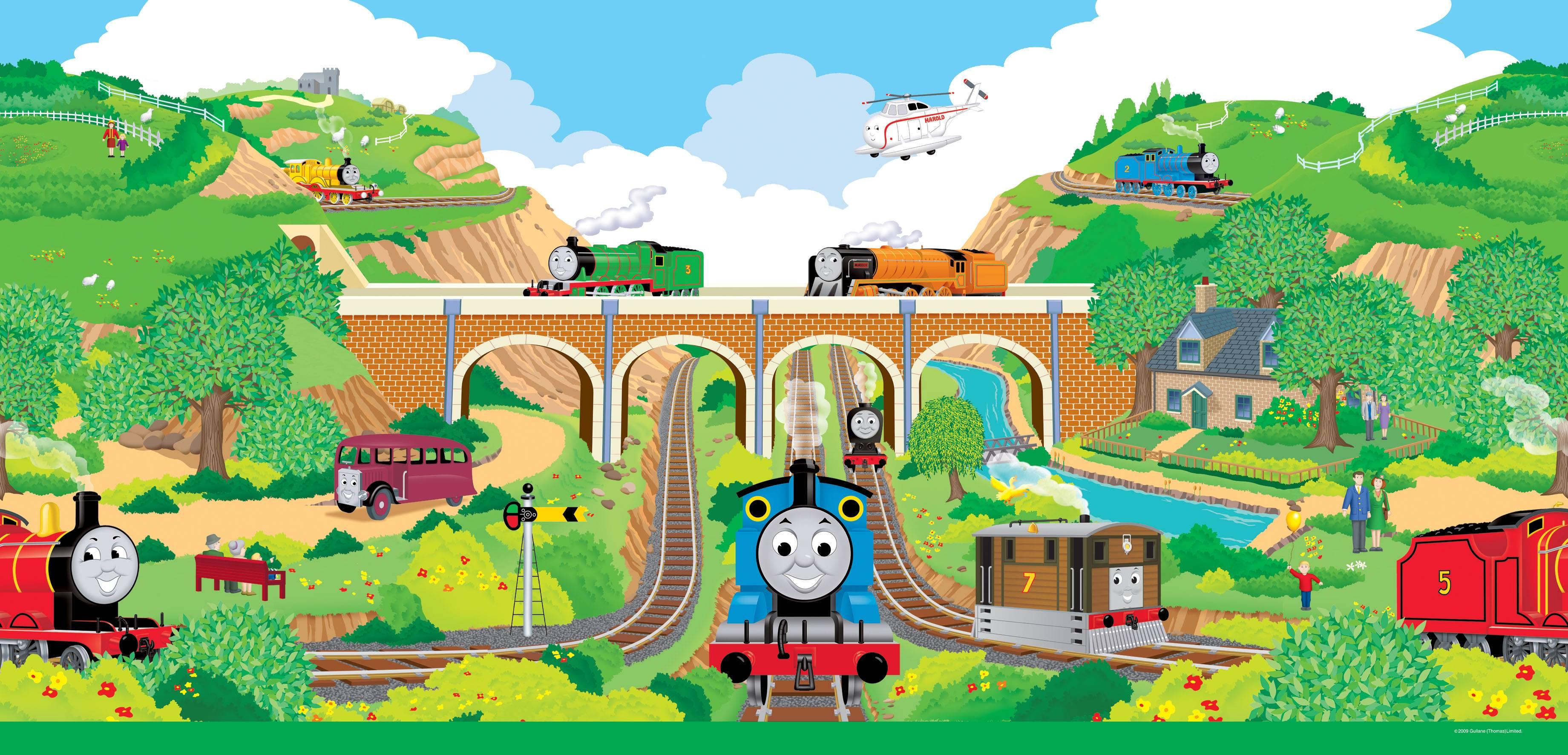 Thomas and Friends Desktop Wallpaper - WallpaperSafari Thomas And Friends Wallpaper Border