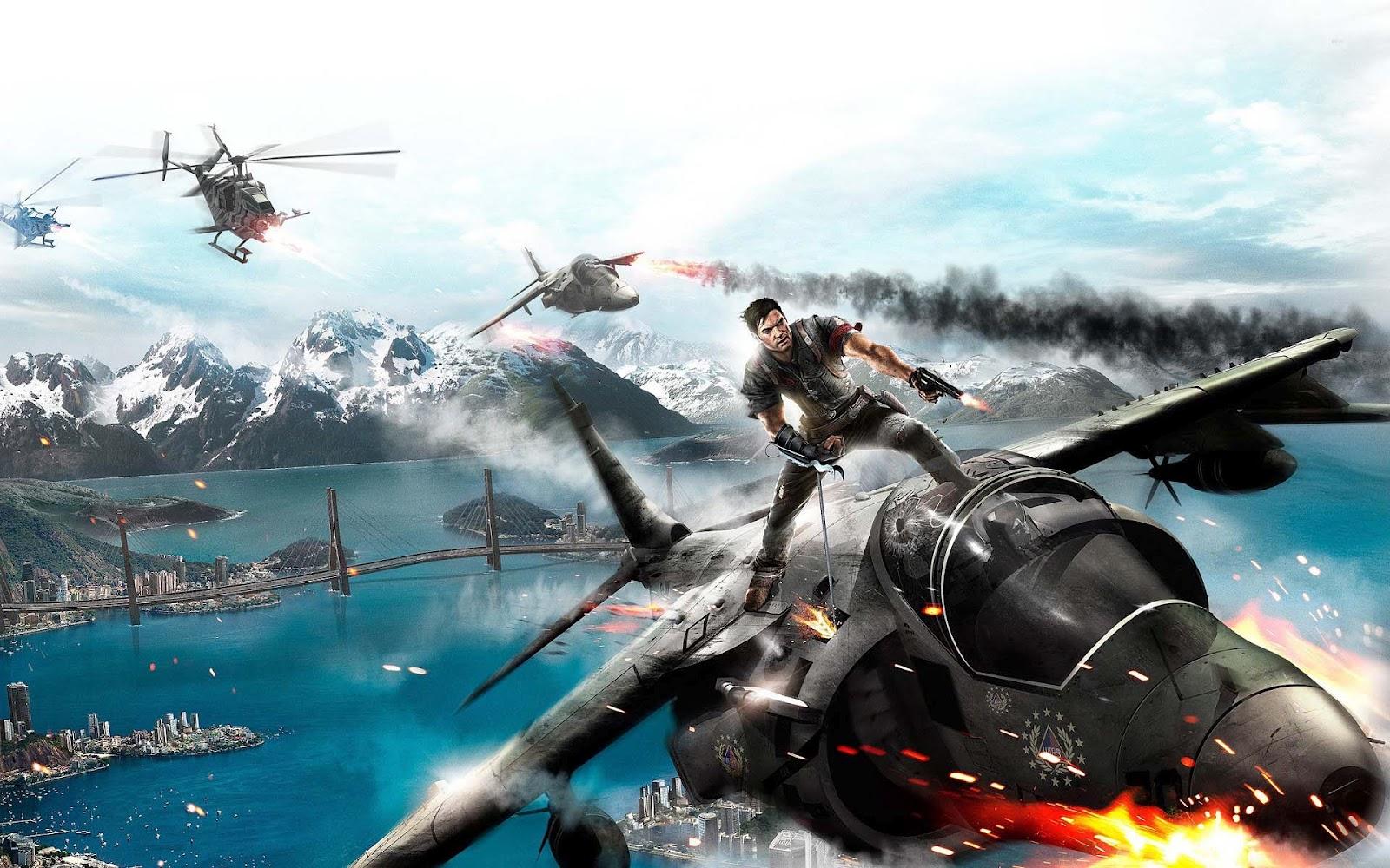 Game wallpaper van Just Cause 2 HD spel Just Cause 2 achtergrond 1600x1000