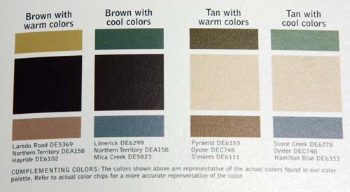 Pick one of the four sections and you have your three colors 500x275