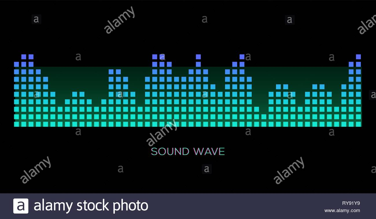 Colorful sound waves on black background set audio player 1300x759