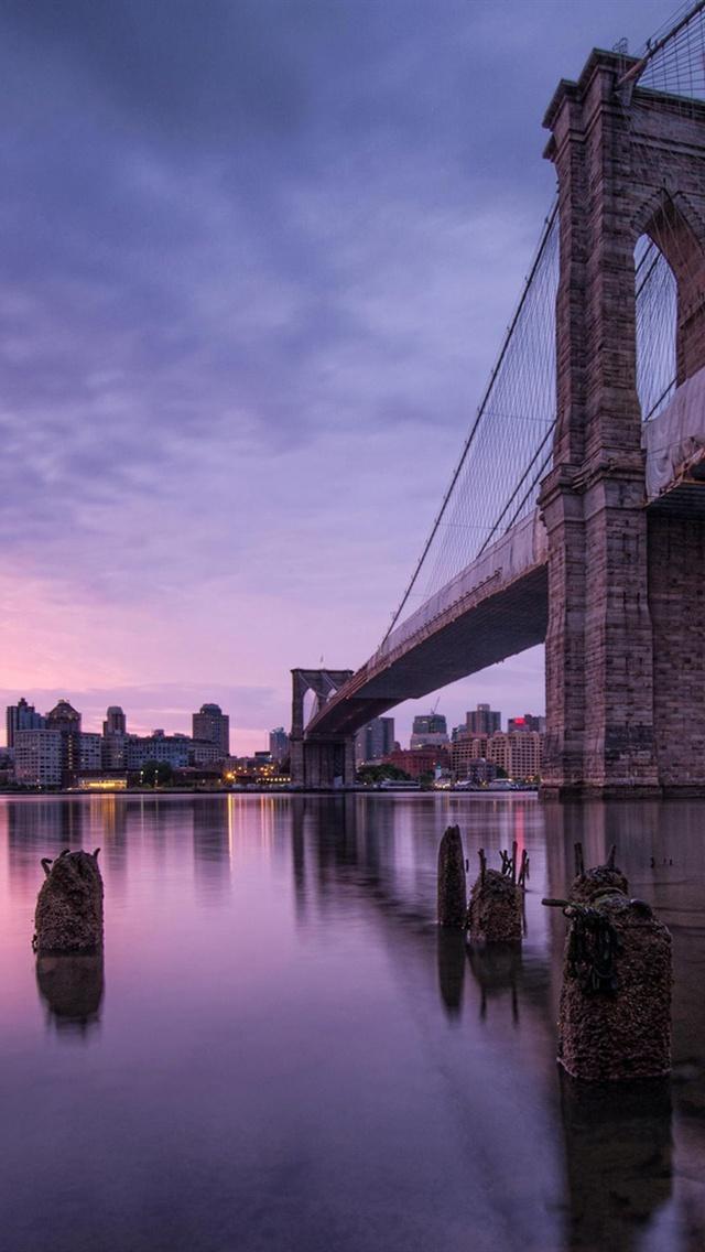 New York USA Brooklyn Bridge iPhone Wallpaper 640x1136 iPhone 5 640x1136