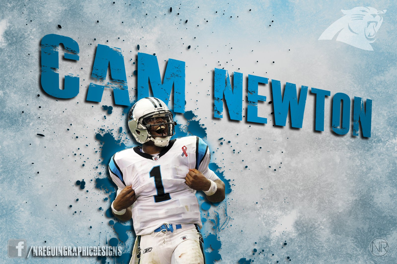 HD Cam Newton Blue Superman Wallpaper by NReguinGraphicDesign on 1600x1066