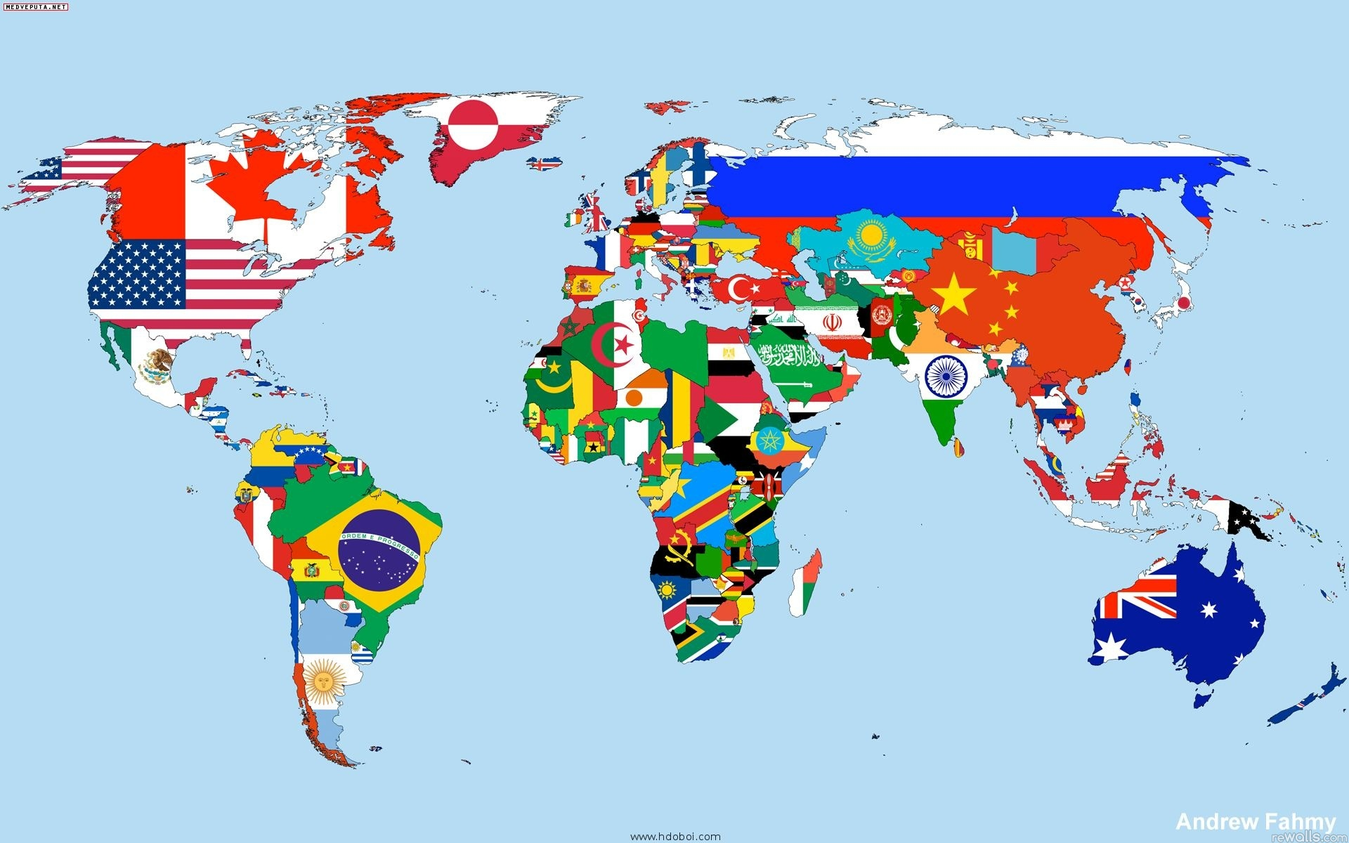 Map of the world Wallpaper flag country desktop Wallpapers 1920x1200