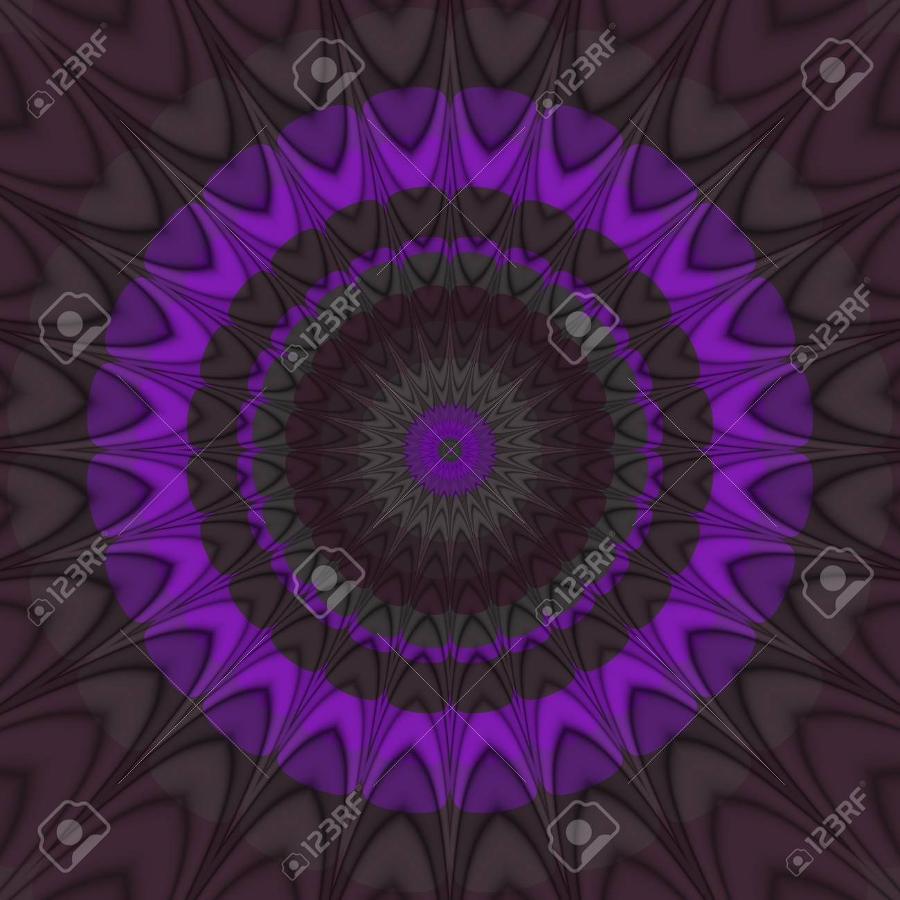 Abstract Shining Psychedelic Spiky Spiny Round Regular Background 1300x1300