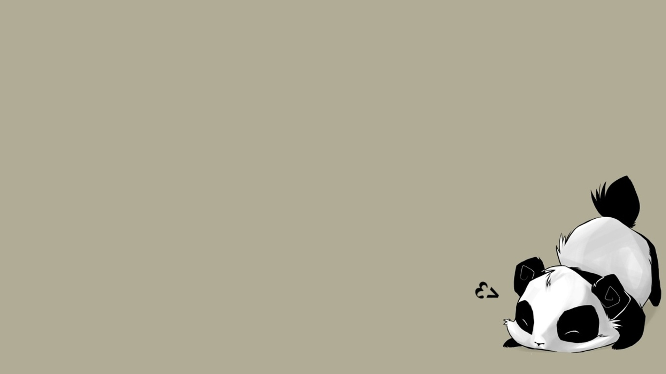 Cute Panda Background 1366x768
