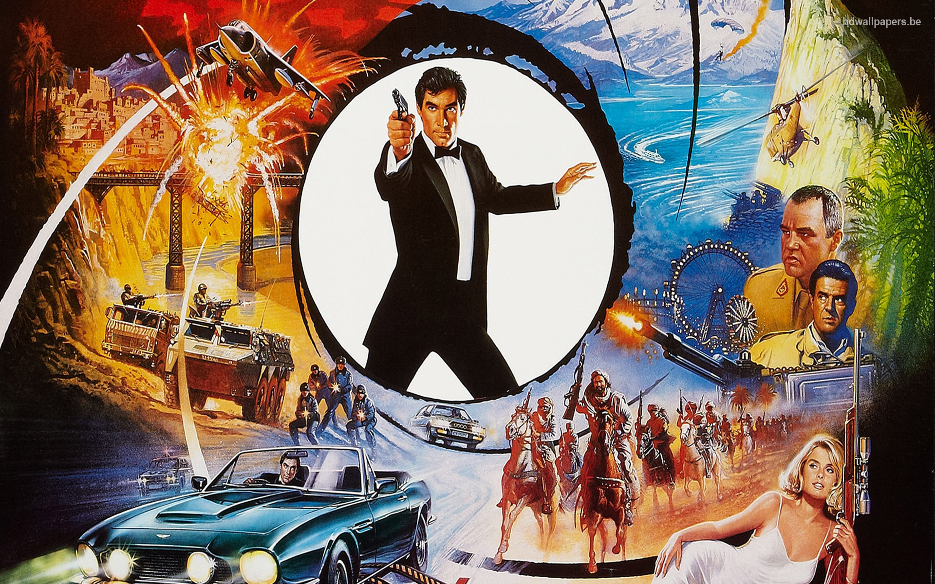 James bond movie poster wallpaper wallpapersafari - Movie poster wallpaper ...
