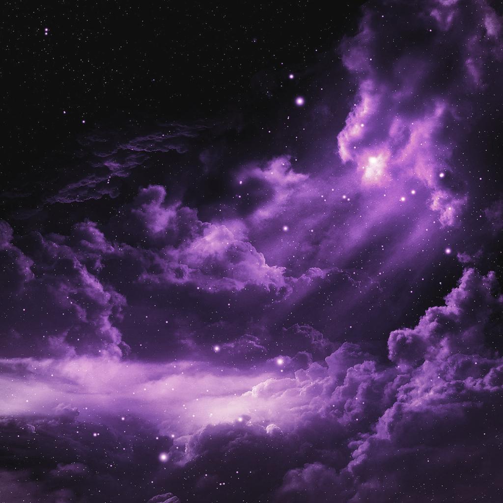 Profound Purple Nebula Space iPad Wallpapers Download 1024x1024