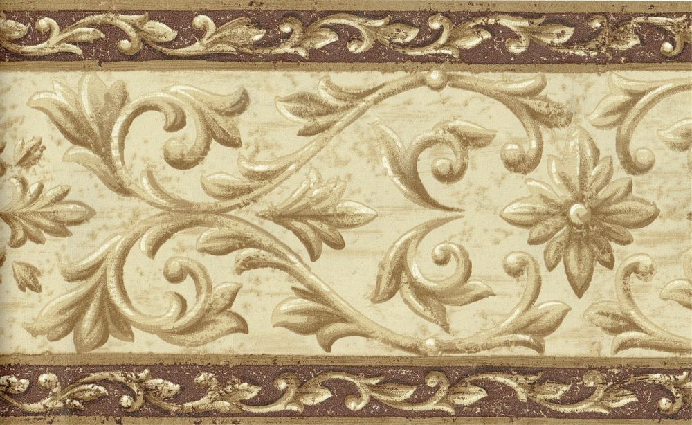 GOLDEN TAN AND BROWN CROWN MOULDING GOLD TRIM Wall bordeR Decor eBay 1000x614