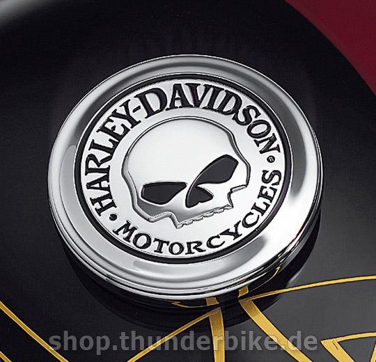 99669 04 fuel cap Medallion   willie g skull collection at Thunderbike 540x520