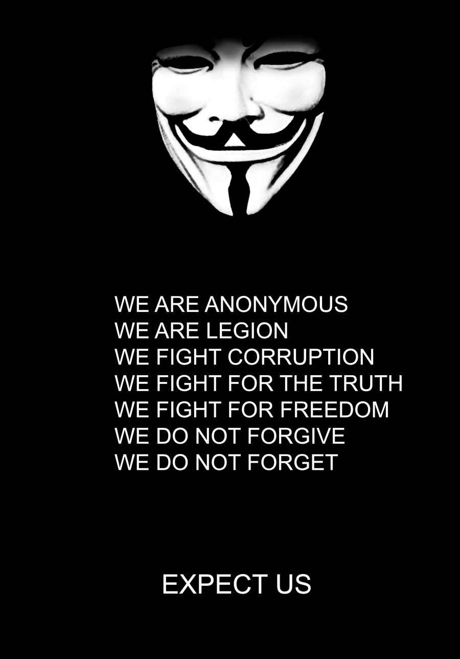 V For Vendetta Mask Wallpaper Quotes We are Anonymous Wallp...