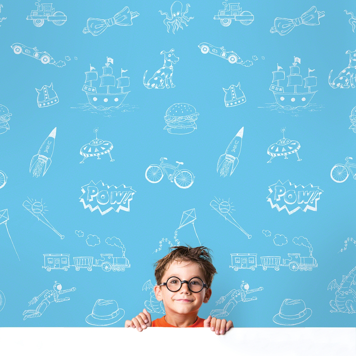 Doodle BlueWhite Removable Wallpaper   WallCandy Arts 1200x1200
