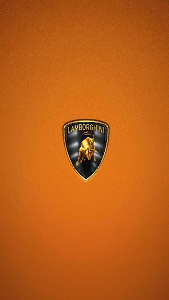 Lamborghini Logo HD Orange Wallpaper iPhone Wallpaper iPhone 5 640x1136