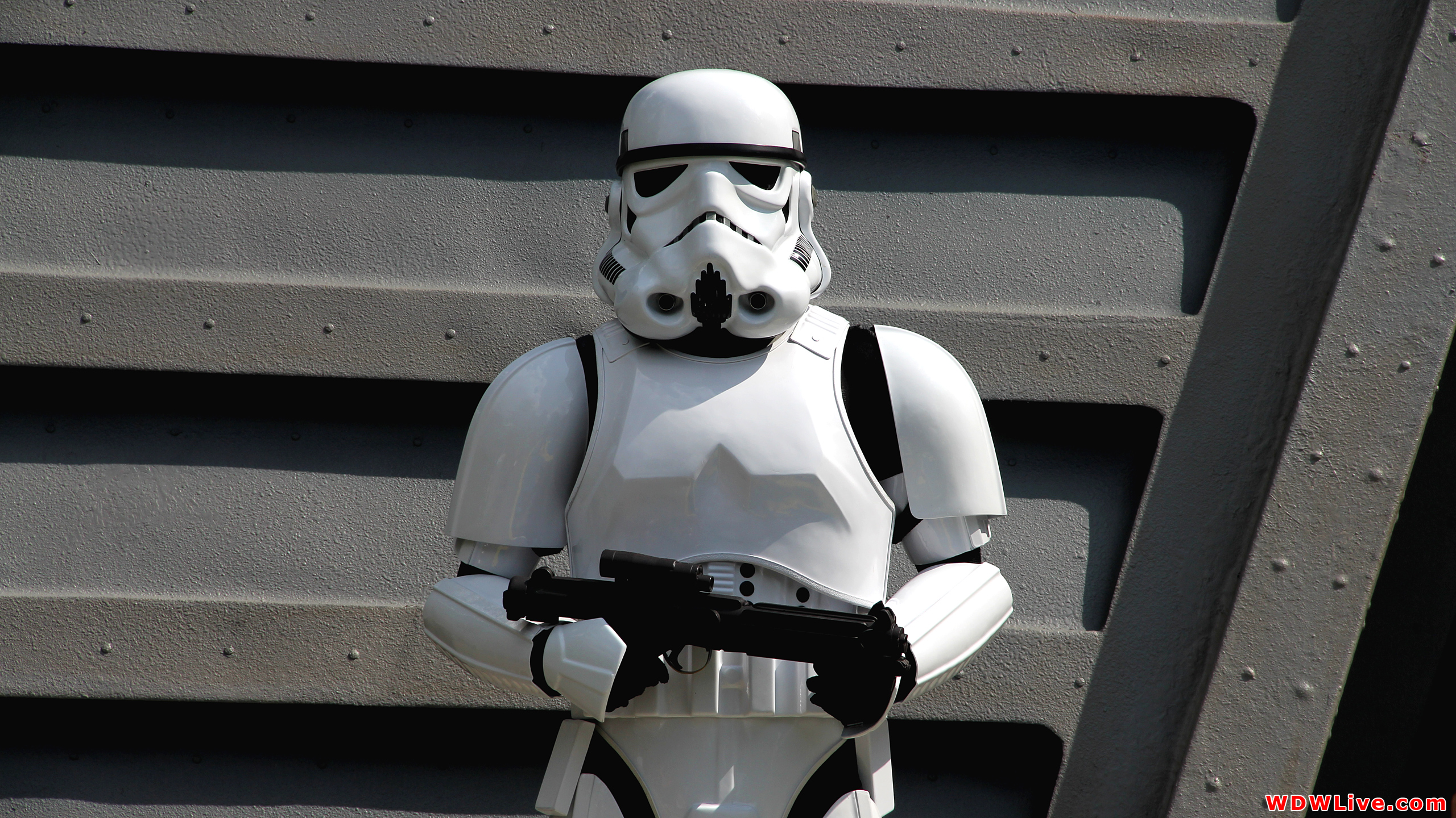 Star Wars Jedi Training Academy Imperial Stormtrooper standing guard 2560x1440